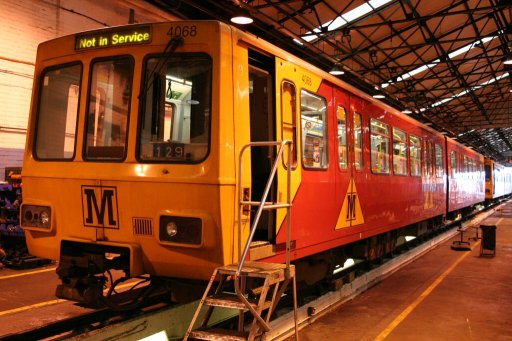 Tyne and Wear Metro unit 4068 at Gosforth depot