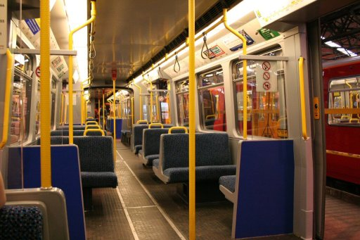 Tyne and Wear Metro unit inside a train at Gosforth depot