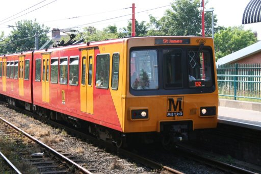 Tyne and Wear Metro unit 4008 at Shiremoor station