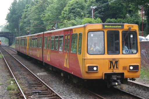 Tyne and Wear Metro unit 4026 at South Gosforth