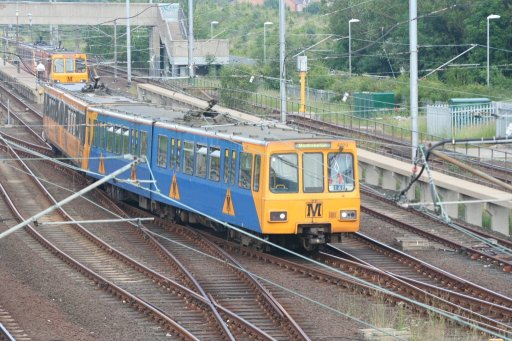 Tyne and Wear Metro unit 4029 at Pelaw sidings