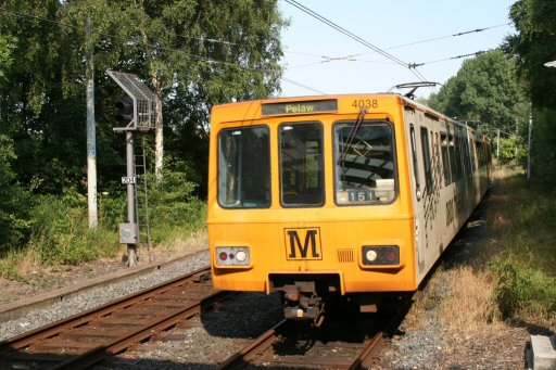Tyne and Wear Metro unit 4038 at Benton