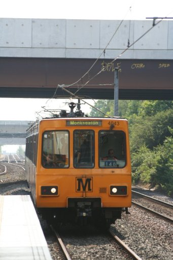 Tyne and Wear Metro unit 4043 at Northumberland Park station