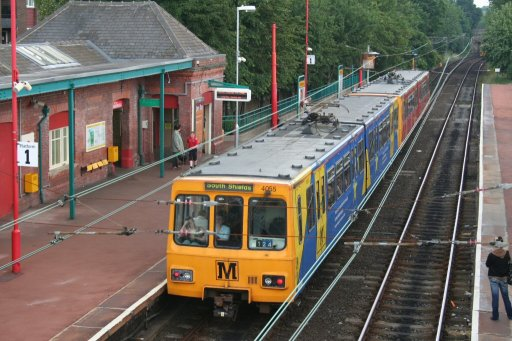 Tyne and Wear Metro unit 4055 at West Jesmond station