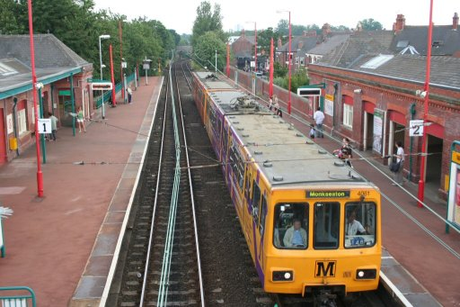Tyne and Wear Metro unit 4061 at West Jesmond station