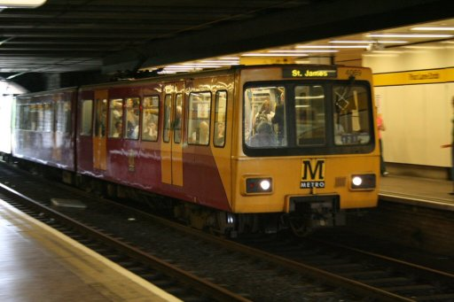 Tyne and Wear Metro unit 4069 at Four Lane Ends station
