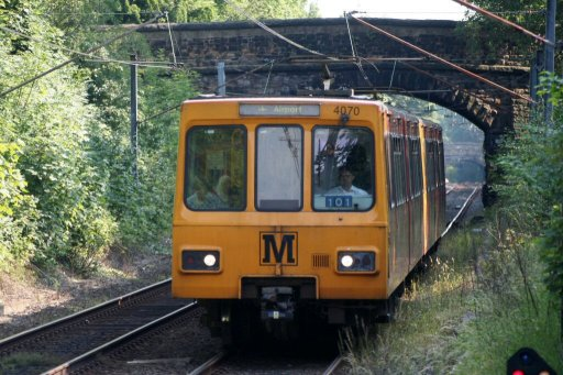 Tyne and Wear Metro unit 4070 at South Gosforth