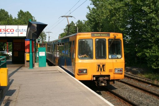 Tyne and Wear Metro unit 4072 at Kingston Park station