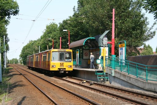 Tyne and Wear Metro unit 4074 at Fawdon station