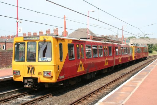 Tyne and Wear Metro unit 4079 at West Jesmond station