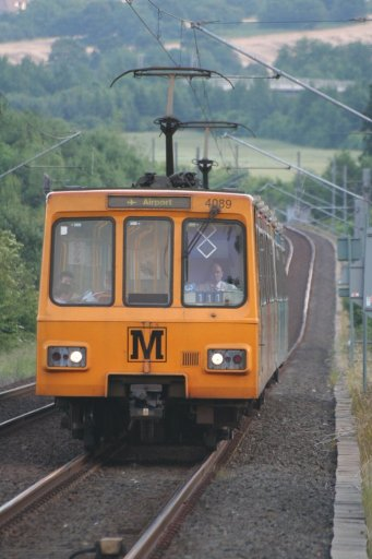 Tyne and Wear Metro unit 4089 at Callerton Parkway