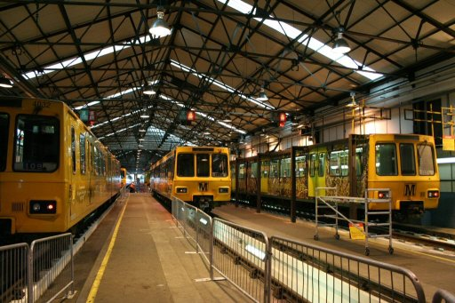 Tyne and Wear Metro unit Gosforth depot at Gosforth depot