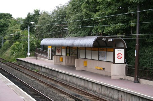 Tyne and Wear Metro station at Ilford Road