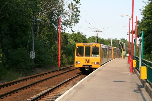 Tyne and Wear Metro unit Kingston Park at Kingston Park station