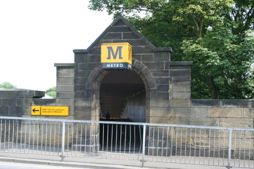 Tyne and Wear Metro station at Monkseaton