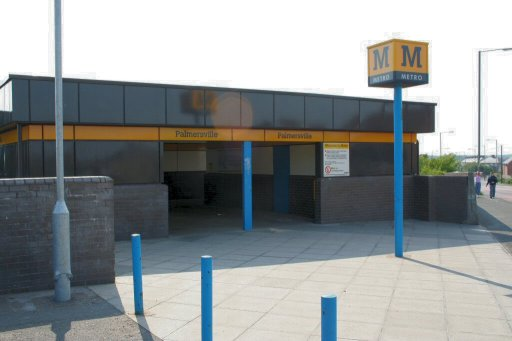 Tyne and Wear Metro station at Palmersville