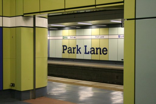 Tyne and Wear Metro station at Park Lane