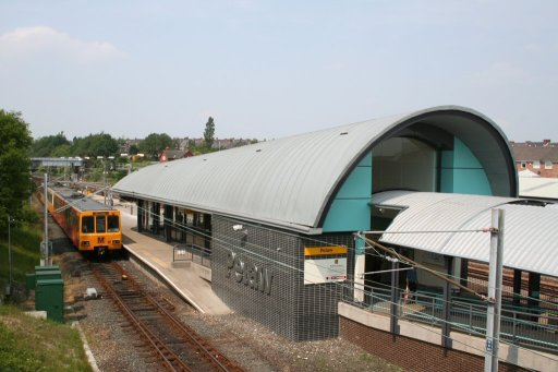 Tyne and Wear Metro station at Pelaw