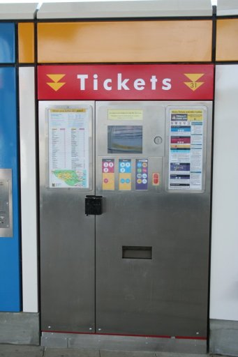 Tyne and Wear Metro ticket machine
