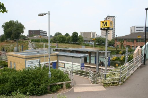 Tyne and Wear Metro station at University