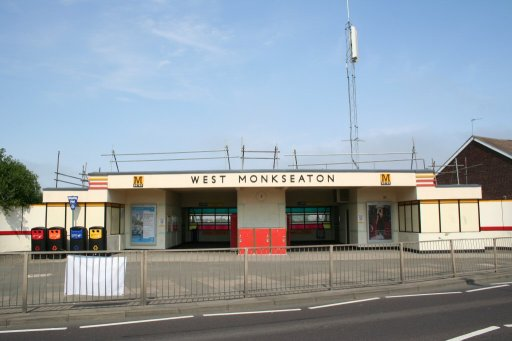 Tyne and Wear Metro station at West Monkseaton